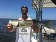 "T-Time Charters, 26"" Striper in the sound"