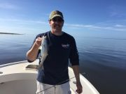 T-Time Charters, Ken with a speckled trout fro Sunday morning