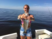 T-Time Charters, Anna with a nice speckled trout