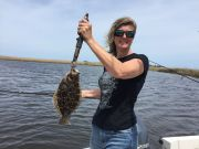 "T-Time Charters, Jen got us started with a 14"" flounder"