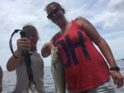 T-Time Charters, Double header of stripers from this afternoon